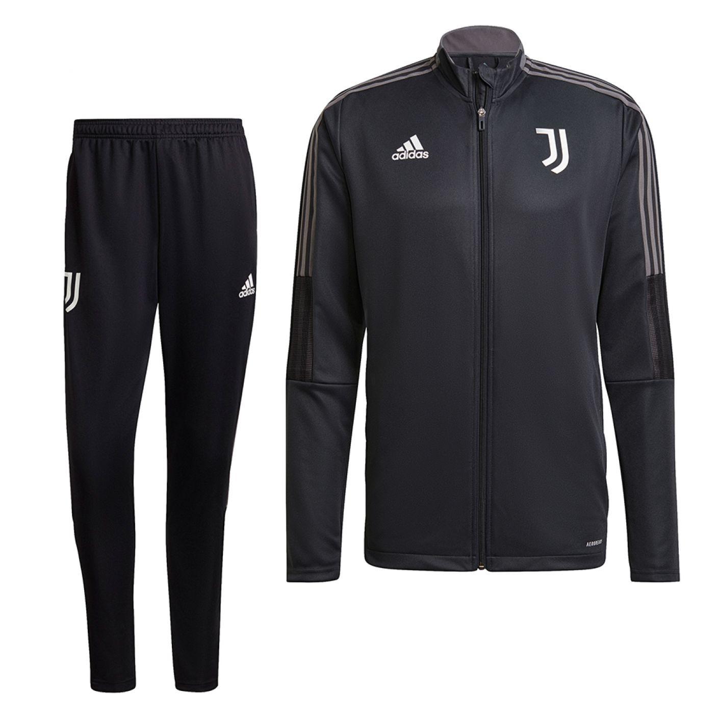 adidas Juventus Trainingspak 2021-2022 Donkergrijs
