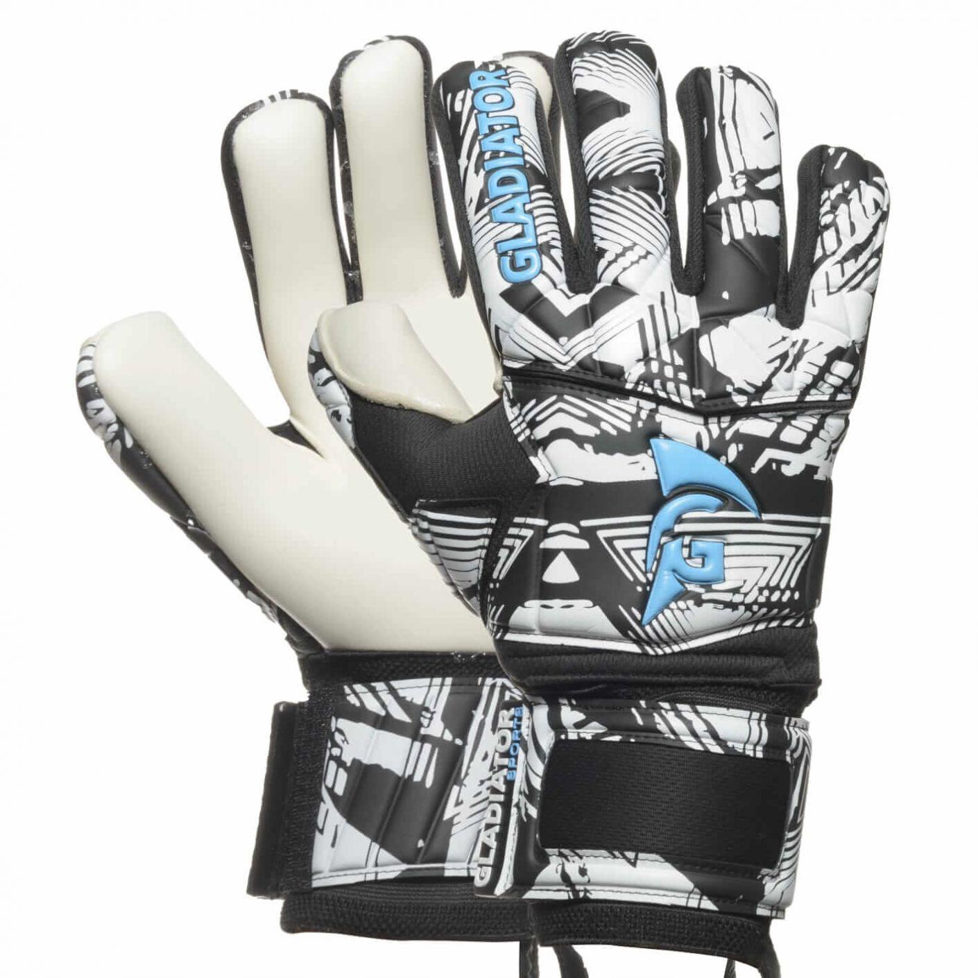 Gladiator Sports Keepershandschoenen Dazzle 3 Zwart Blauw Grijs