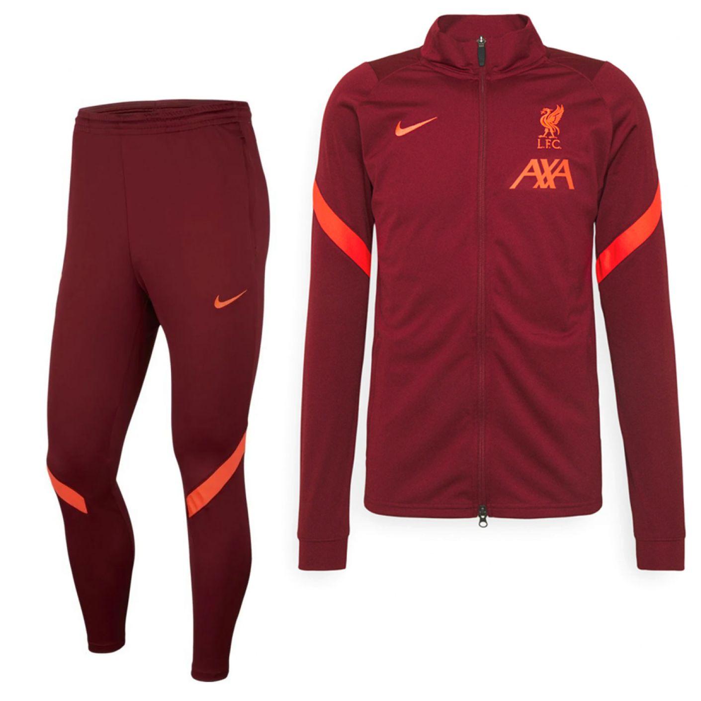 Nike Liverpool Strike Trainingspak 2021-2022 Kids Rood Felrood