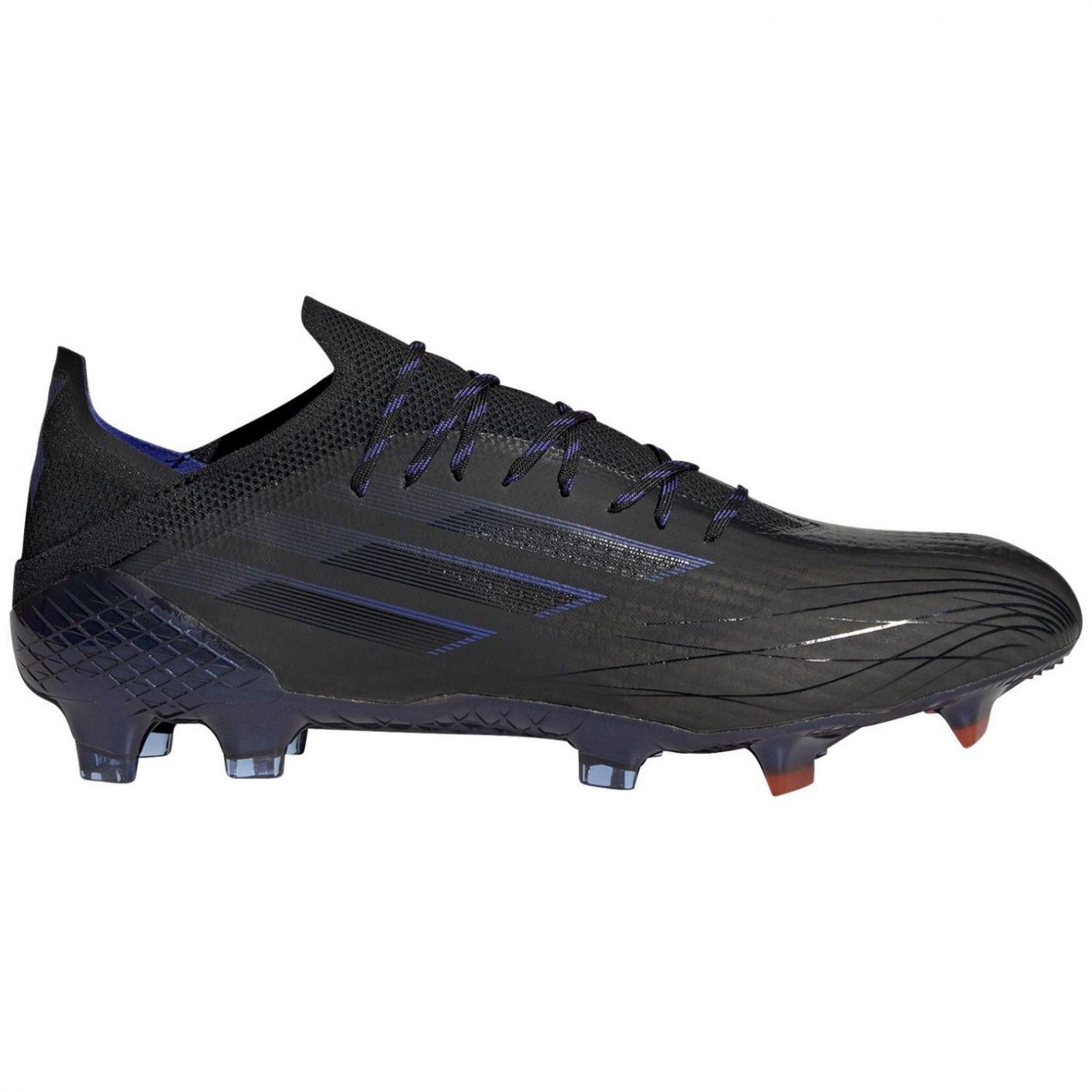 adidas X Speedflow.1 Gras Voetbalschoenen (FG) Zwart Blauw Geel