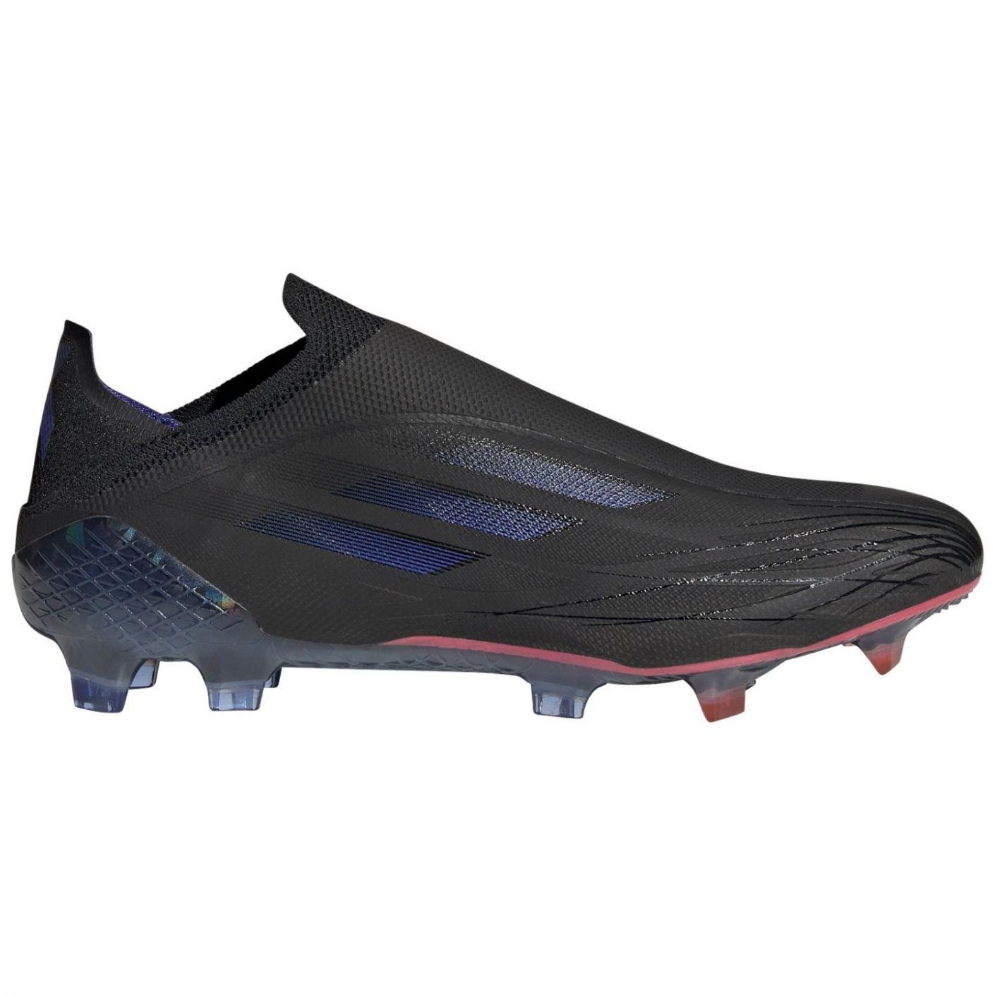 adidas X Speedflow+ Gras Voetbalschoenen (FG) Zwart Blauw Geel