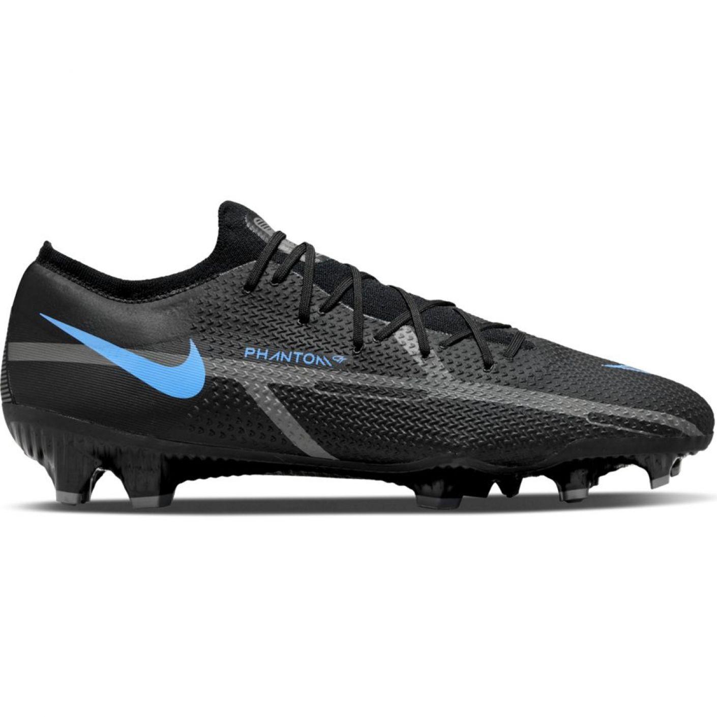 Nike Phantom GT 2 Pro Gras Voetbalschoenen (FG) Zwart Donkergrijs