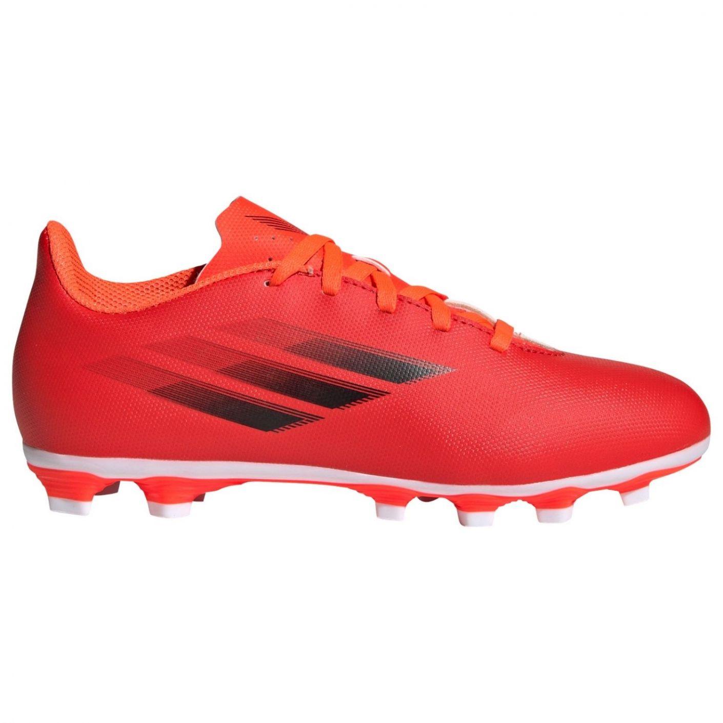 adidas X Speedflow.4 Gras / Kunstgras Voetbalschoenen (FxG) Kids Rood Zwart Rood