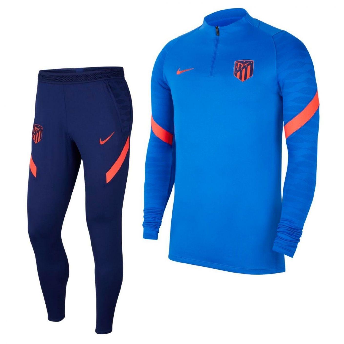 Nike Atletico Madrid Strike Drill Trainingspak 2021-2022 Blauw DonkerblauwNike Atletico Madrid Strike Drill Trainingspak 2021-20