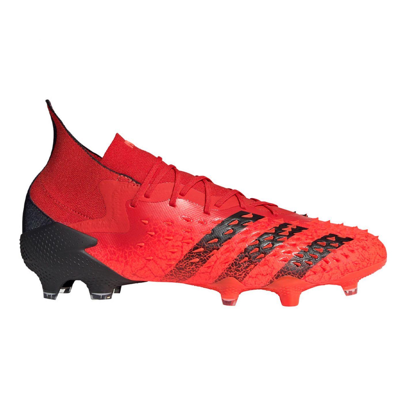 adidas Predator Freak.1 Gras Voetbalschoenen (FG) Rood Zwart Rood