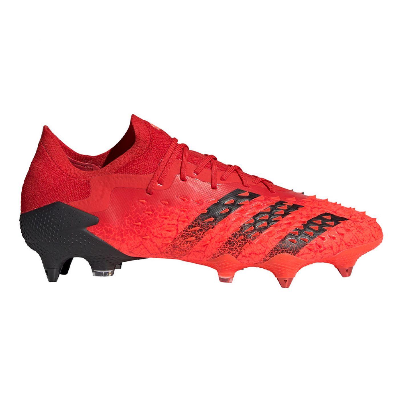 adidas Predator Freak.1 Low Ijzeren-Nop Voetbalschoenen (SG) Rood Zwart Rood