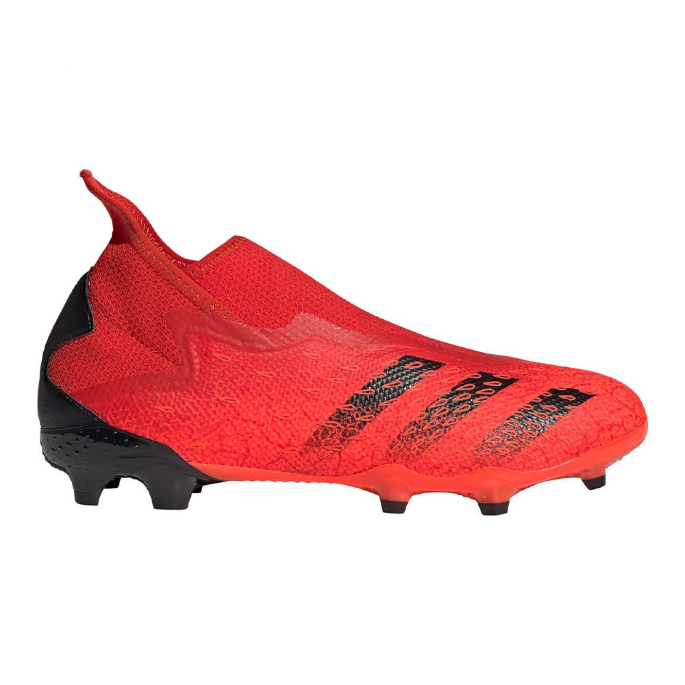 adidas Predator Freak.3 LL Gras Voetbalschoenen (FG) Rood Zwart Rood