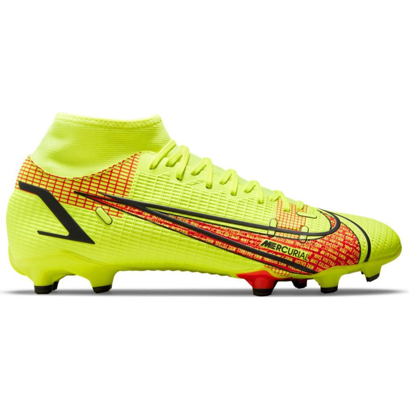 Nike Mercurial Superfly 8 Academy Gras / Kunstgras Voetbalschoenen (MG) Wit Zwart Rood