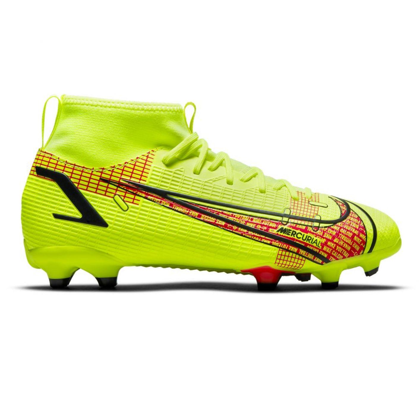 Nike Mercurial Superfly 8 Academy Gras / Kunstgras Voetbalschoenen (MG) Kids Wit Zwart Rood