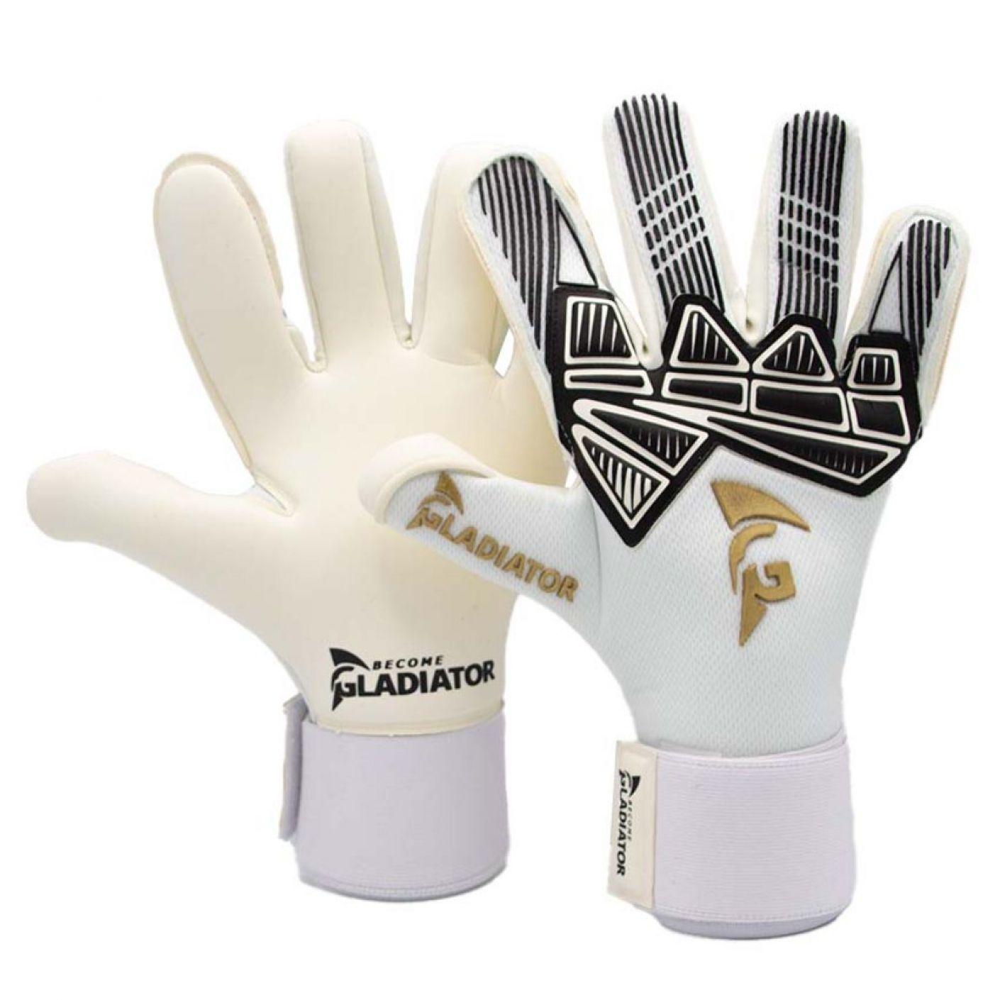 Gladiator Sports Rangatira Keepershandschoenen Wit Zwart Goud