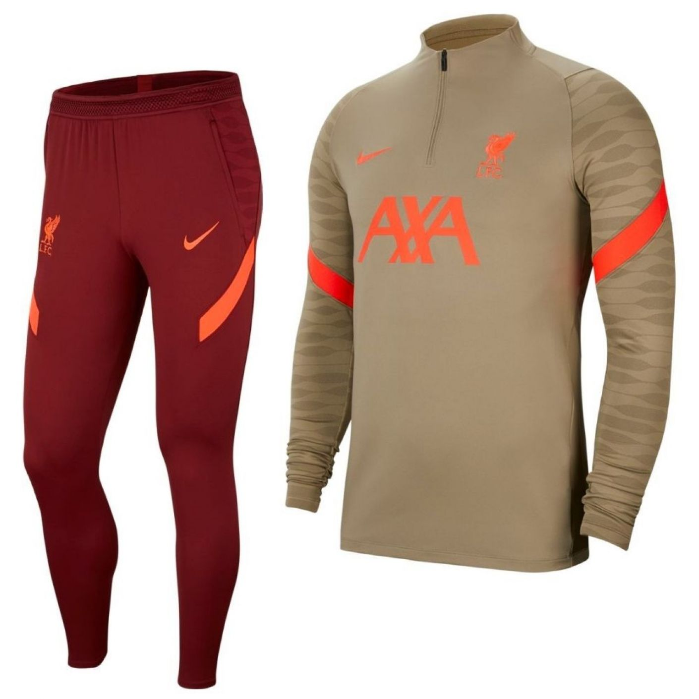 Nike Liverpool Strike Drill Trainingspak 2021-2022 Bruin Rood