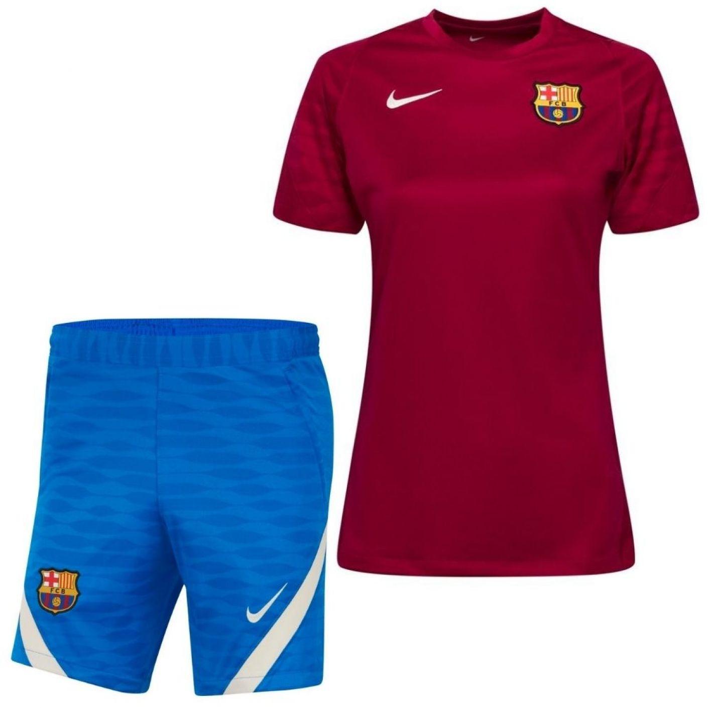 Nike FC Barcelona Strike Trainingsset 2021-2022 Dames Rood Blauw
