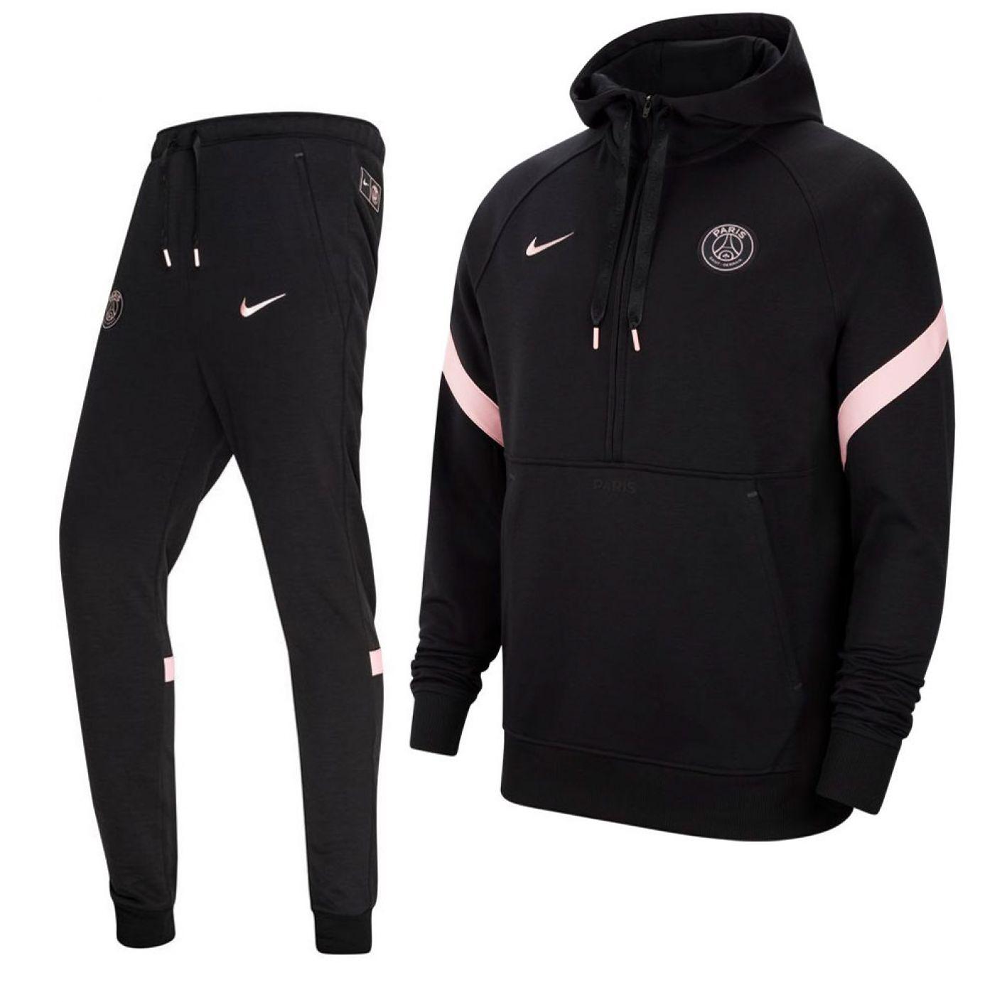 Nike Paris Saint Germain Travel Fleece Trainingspak 2021-2022 Zwart Roze