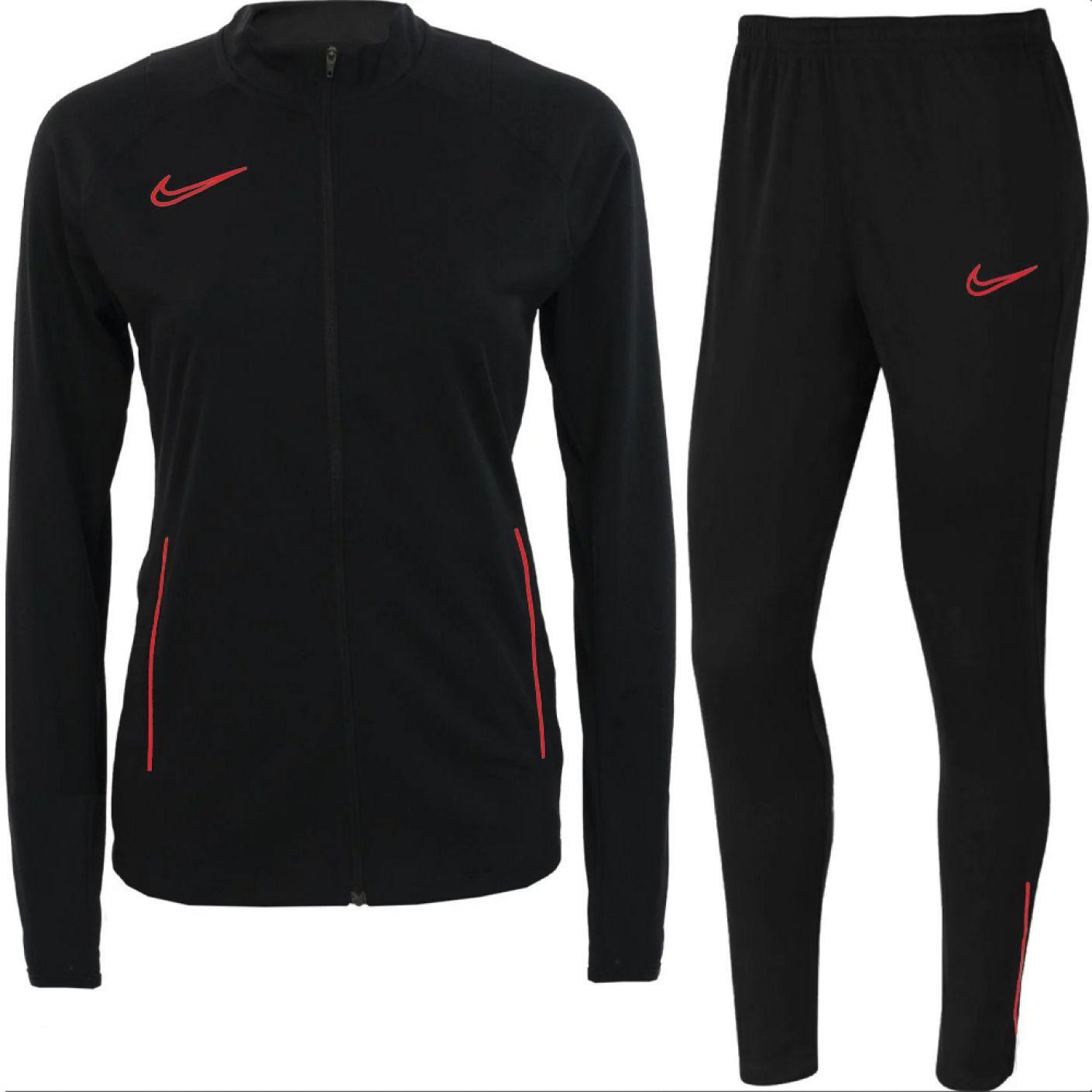 Nike Academy 21 Trainingspak Dames Zwart Felrood