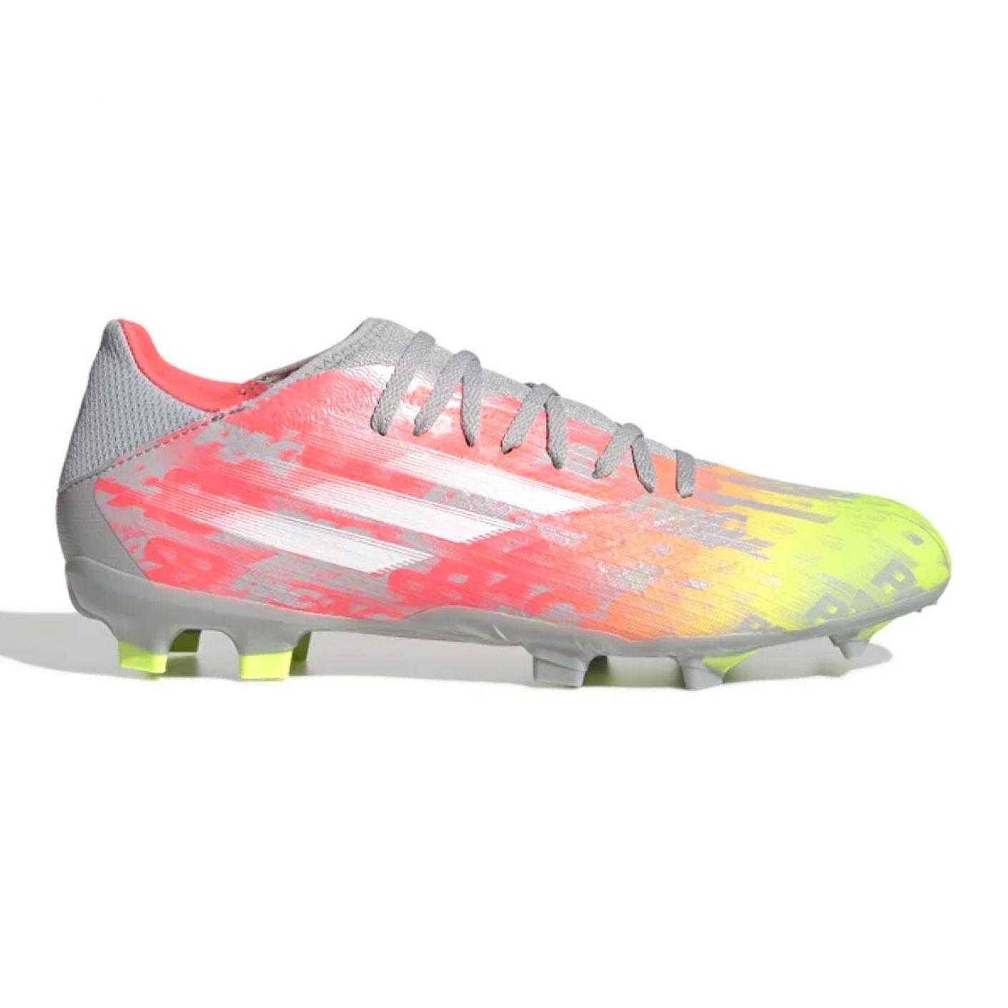 adidas X Speedflow.3 Gras Voetbalschoenen (FG) Grijs Wit Geel