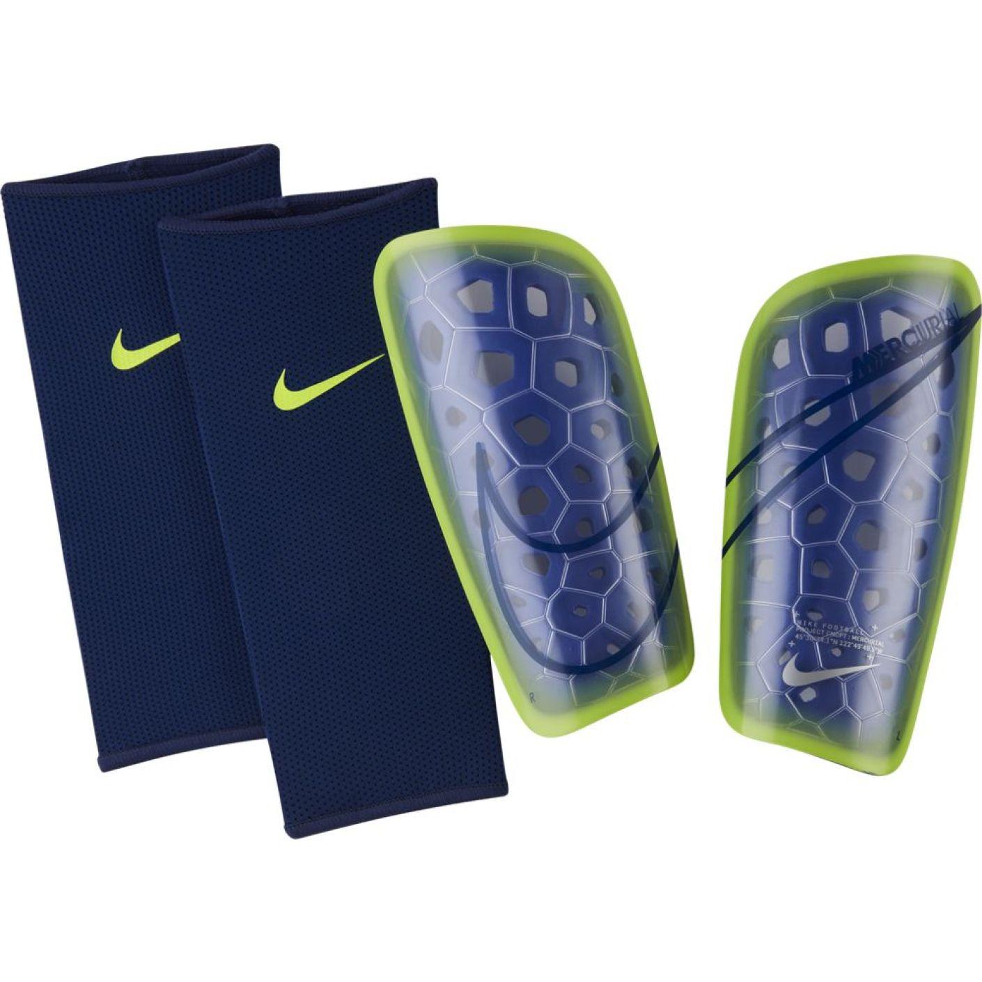 Nike Mercurial Lite Scheenbeschermers Paars Geel Blauw