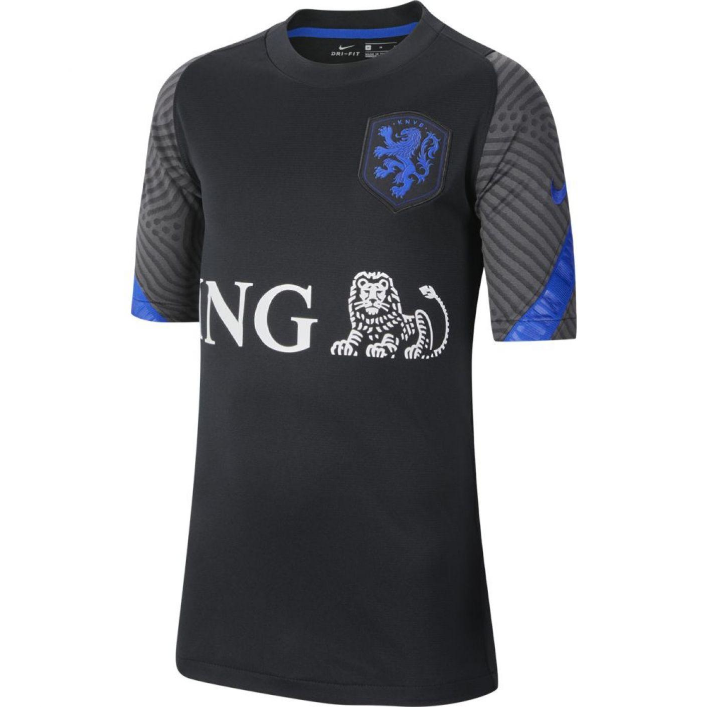Nike Nederland Strike Trainingsshirt 2020-2022 Kids Zwart