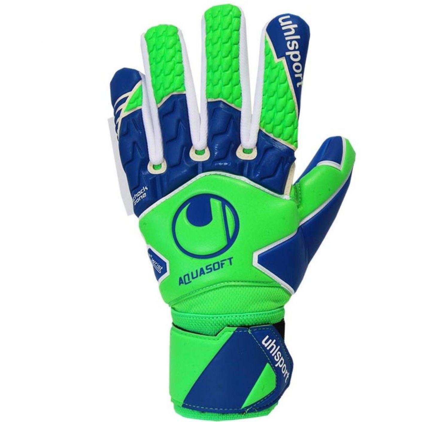 UHLSPORT AQUASOFT HN Keepershandschoenen Groen Blauw