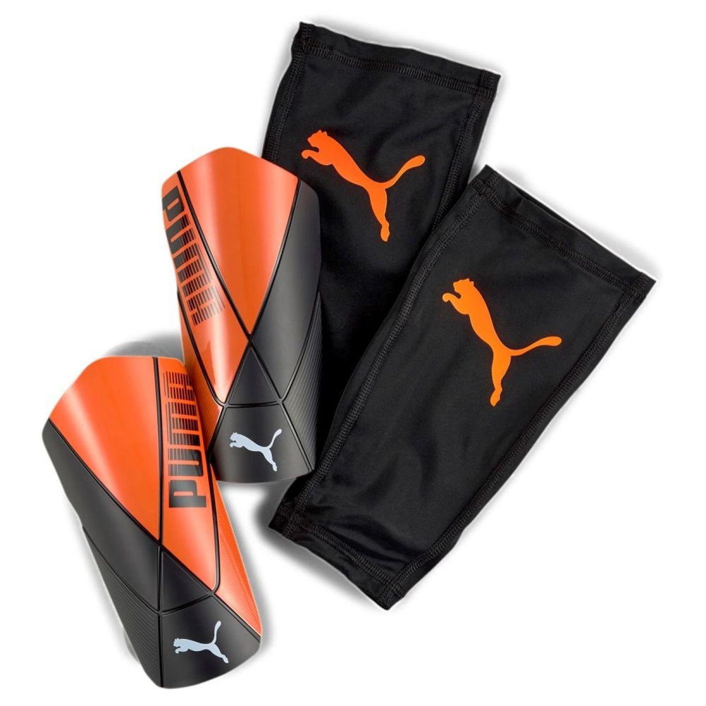 PUMA ftblNXT PRO Flex Scheenbeschermer Zwart Oranje