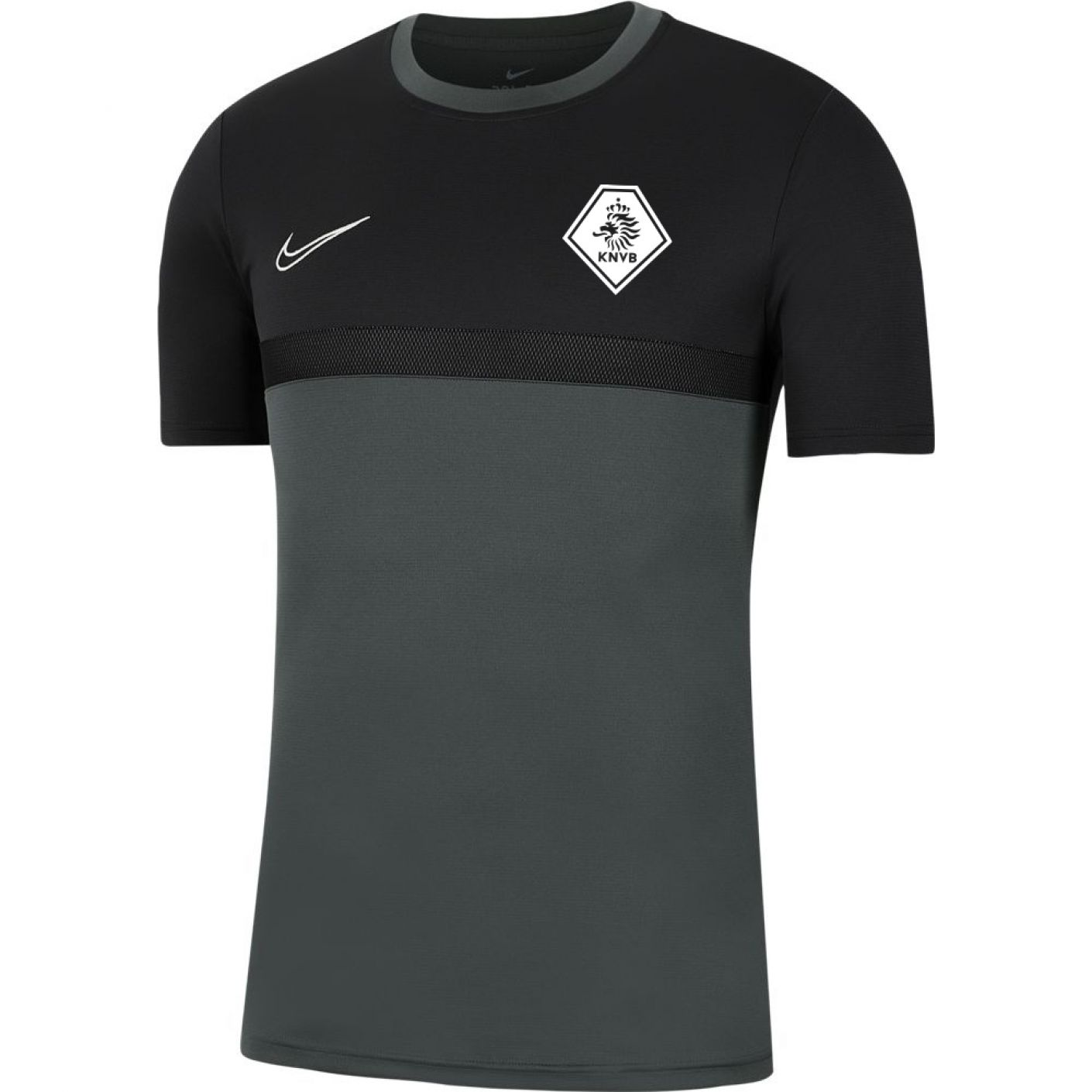 Nike KNVB Academy Pro Trainingsshirt Antraciet Zwart