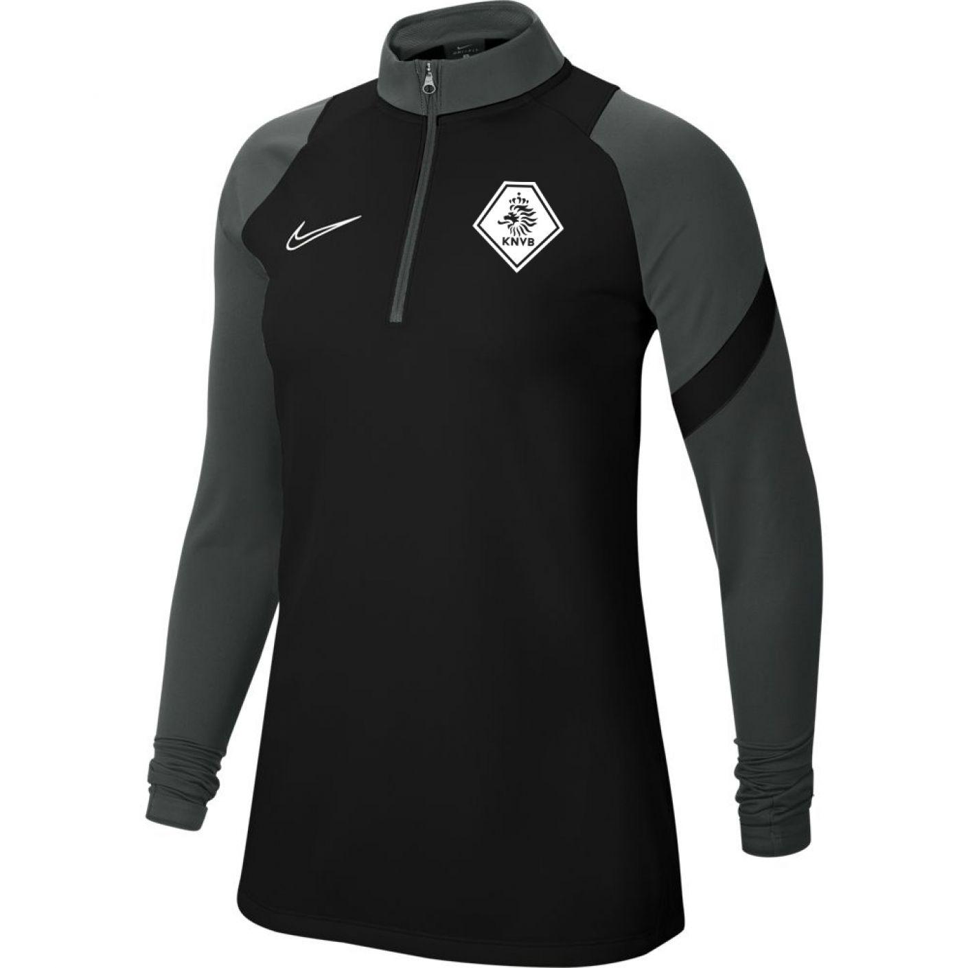 Nike KNVB Academy Pro Trainingstrui Vrouwen Zwart Antraciet