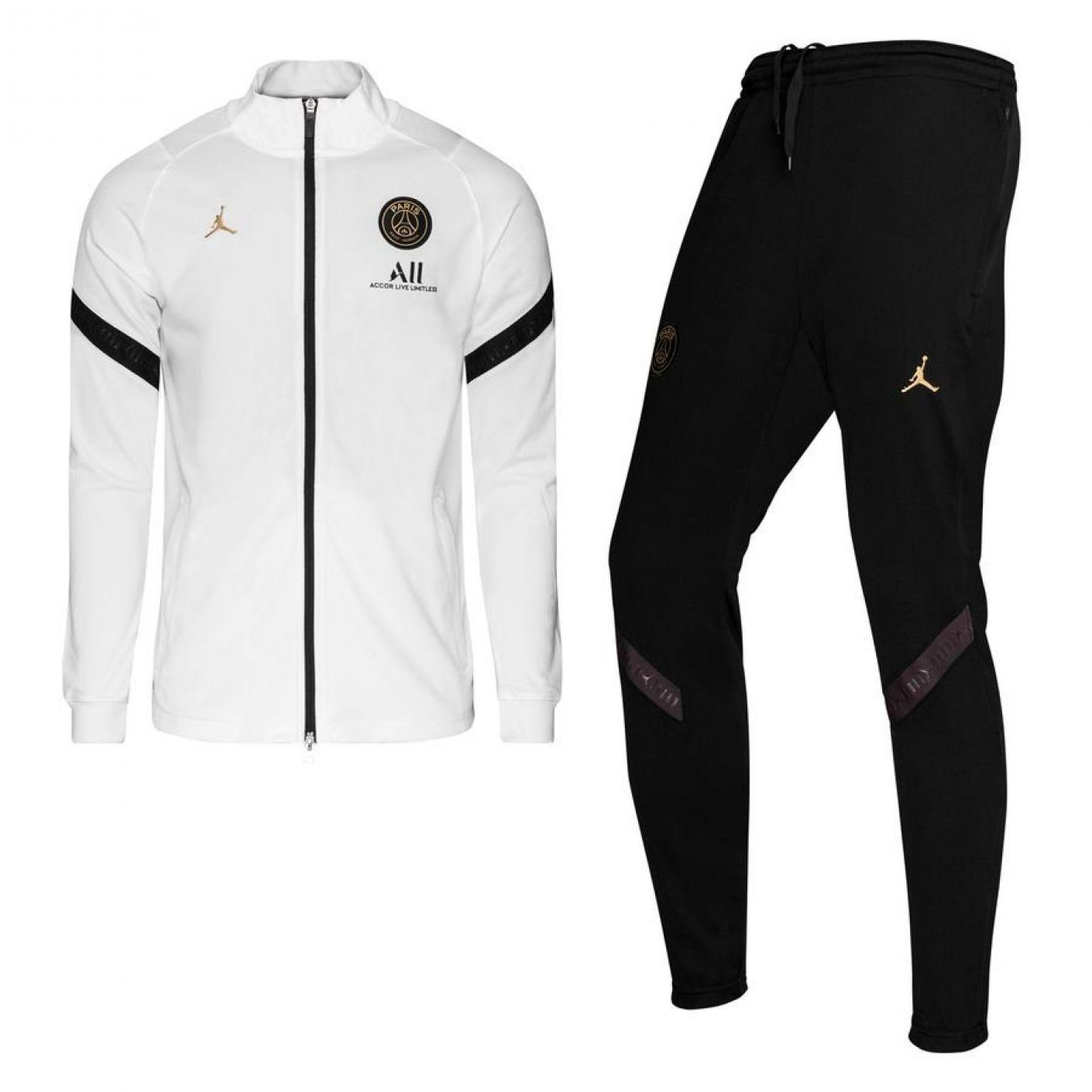 Nike Paris Saint Germain Dry Strike Trainingspak CL 2020-2021 Kids Wit