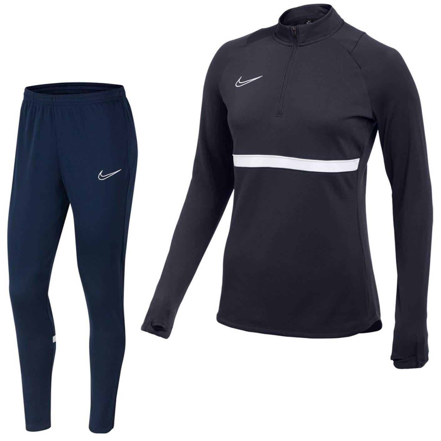 Nike Academy 21 Trainingspak Vrouwen Donkerblauw Wit