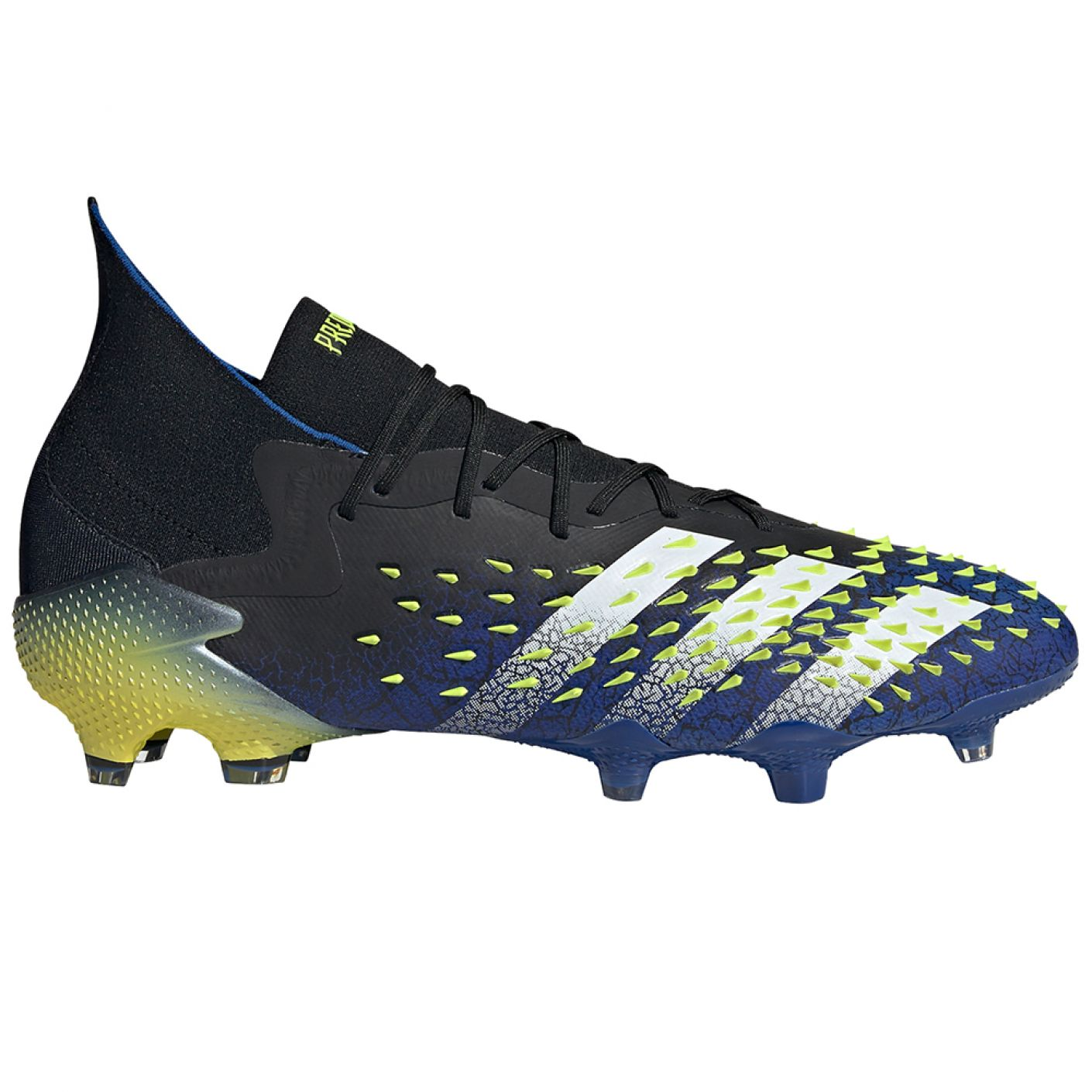 adidas Predator Freak.1 Gras Voetbalschoenen (FG) Zwart Wit Geel