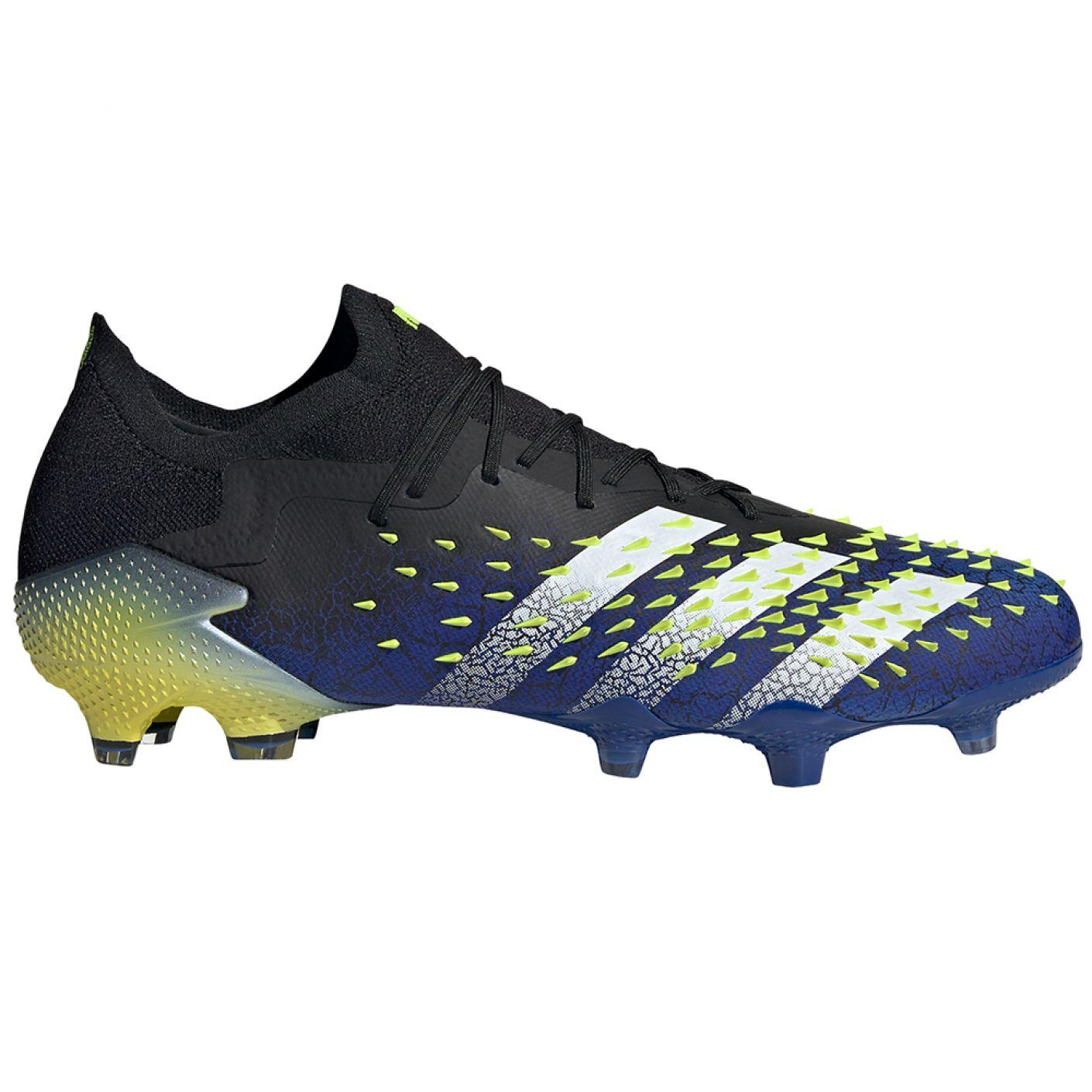 adidas Predator Freak.1 Low Gras Voetbalschoenen (FG) Zwart Wit Geel