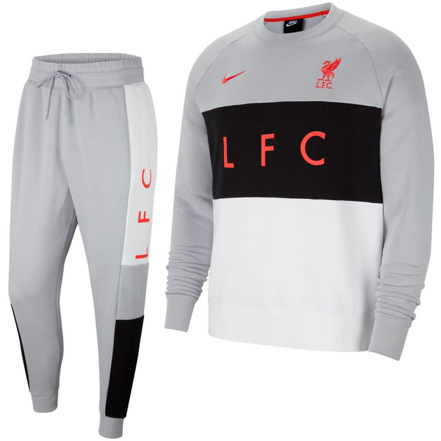 Nike Liverpool NSW Air Fleece Trainingspak 2021 Grijs Wit Zwart Rood