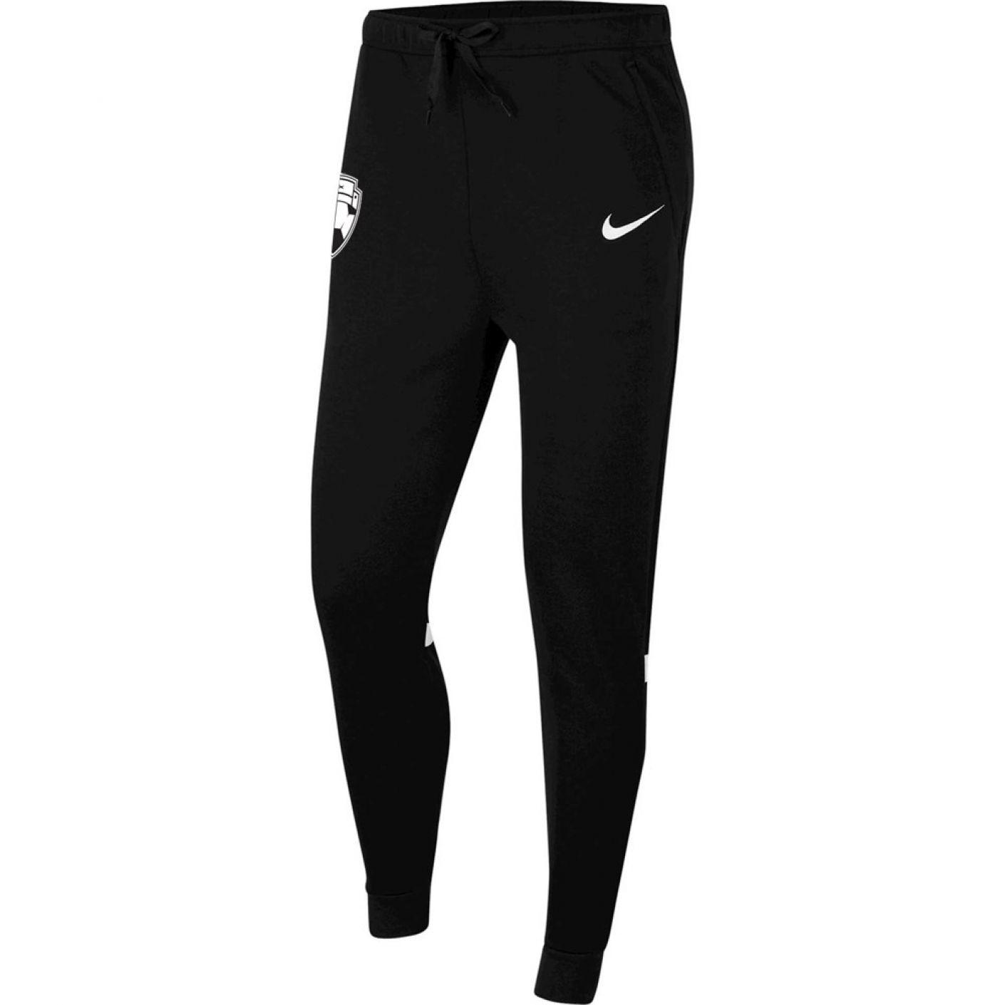 Nike Bankzitters Fleece Trainingsbroek Zwart Wit