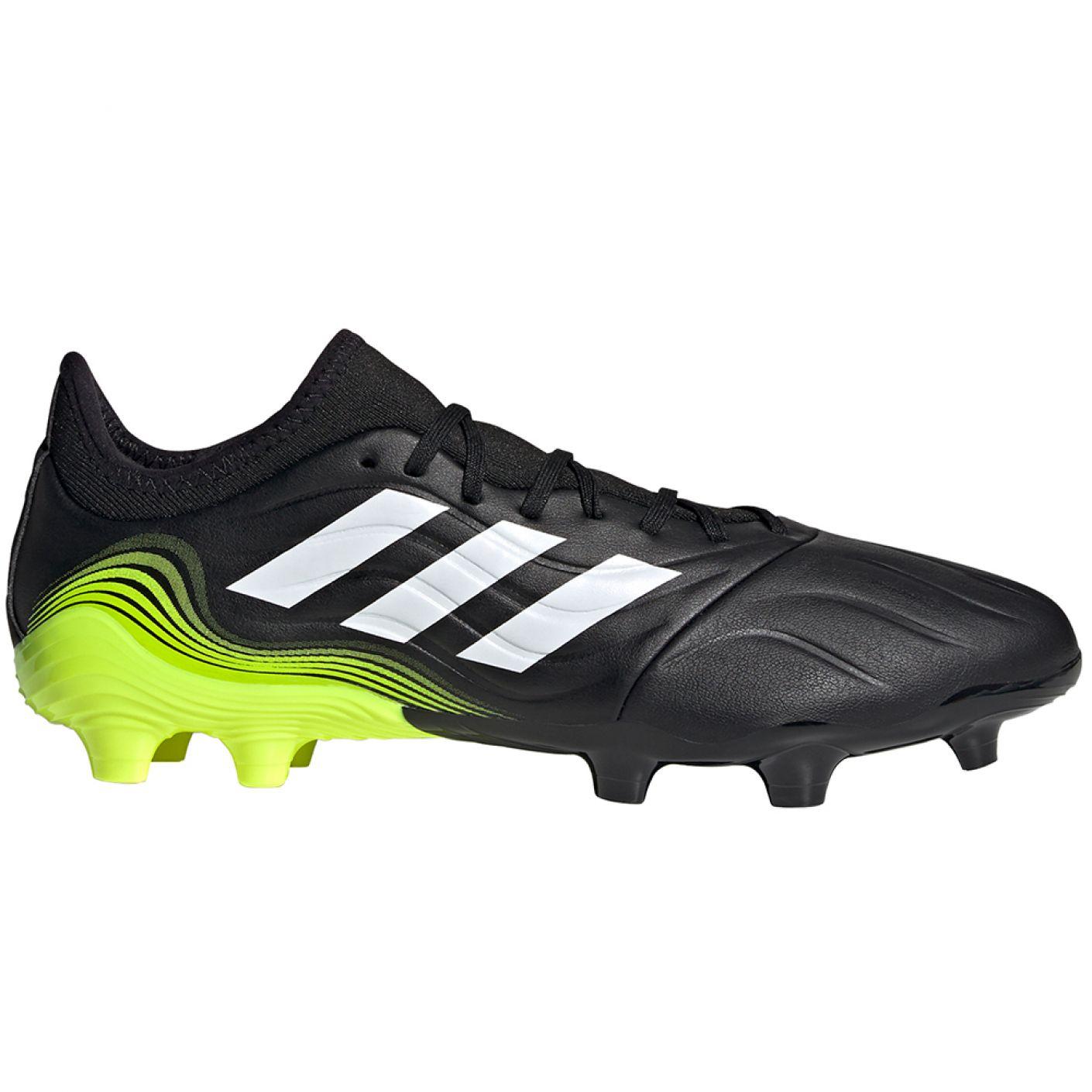 adidas Copa Sense.3 Gras Voetbalschoenen (FG) Zwart Wit Geel