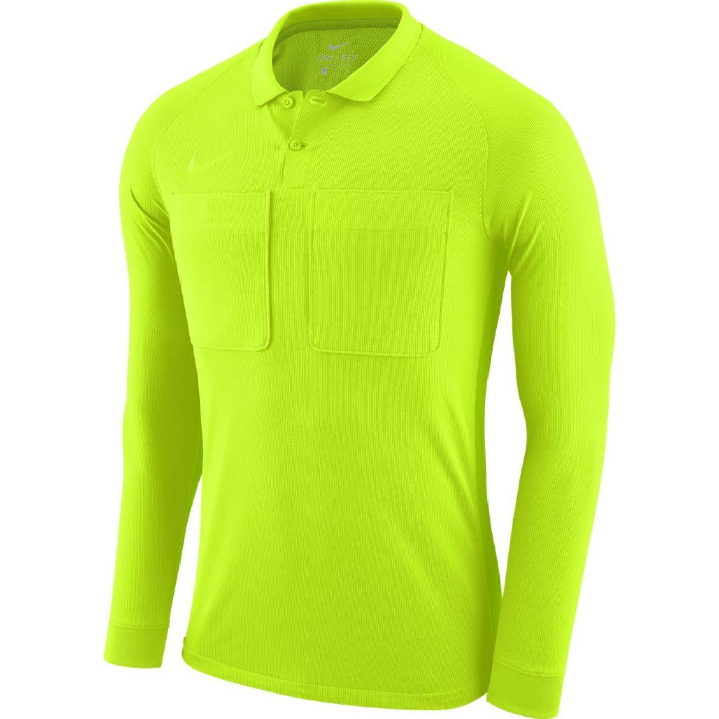 Nike Dry Scheidsrechtersshirt Lange Mouwen Volt Groen