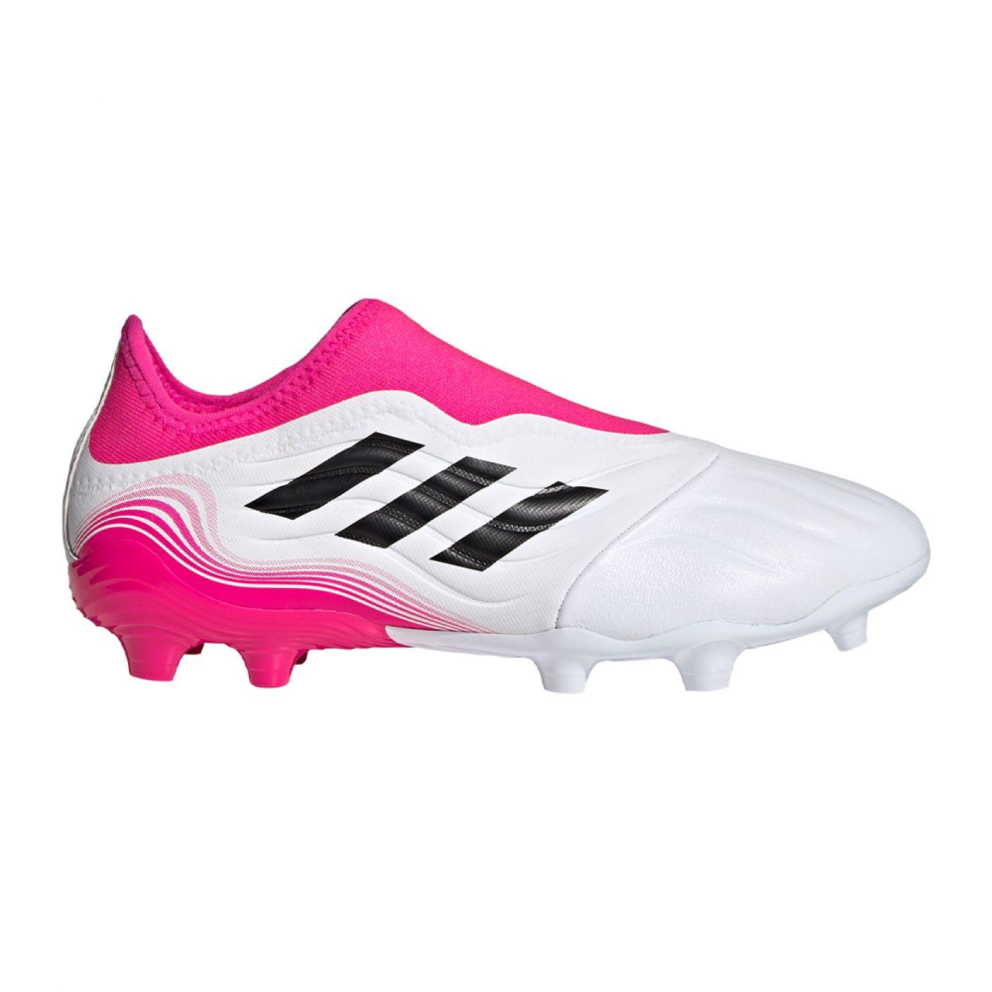 adidas Copa Sense.3 LL Gras Voetbalschoenen (FG) Wit Zwart Roze