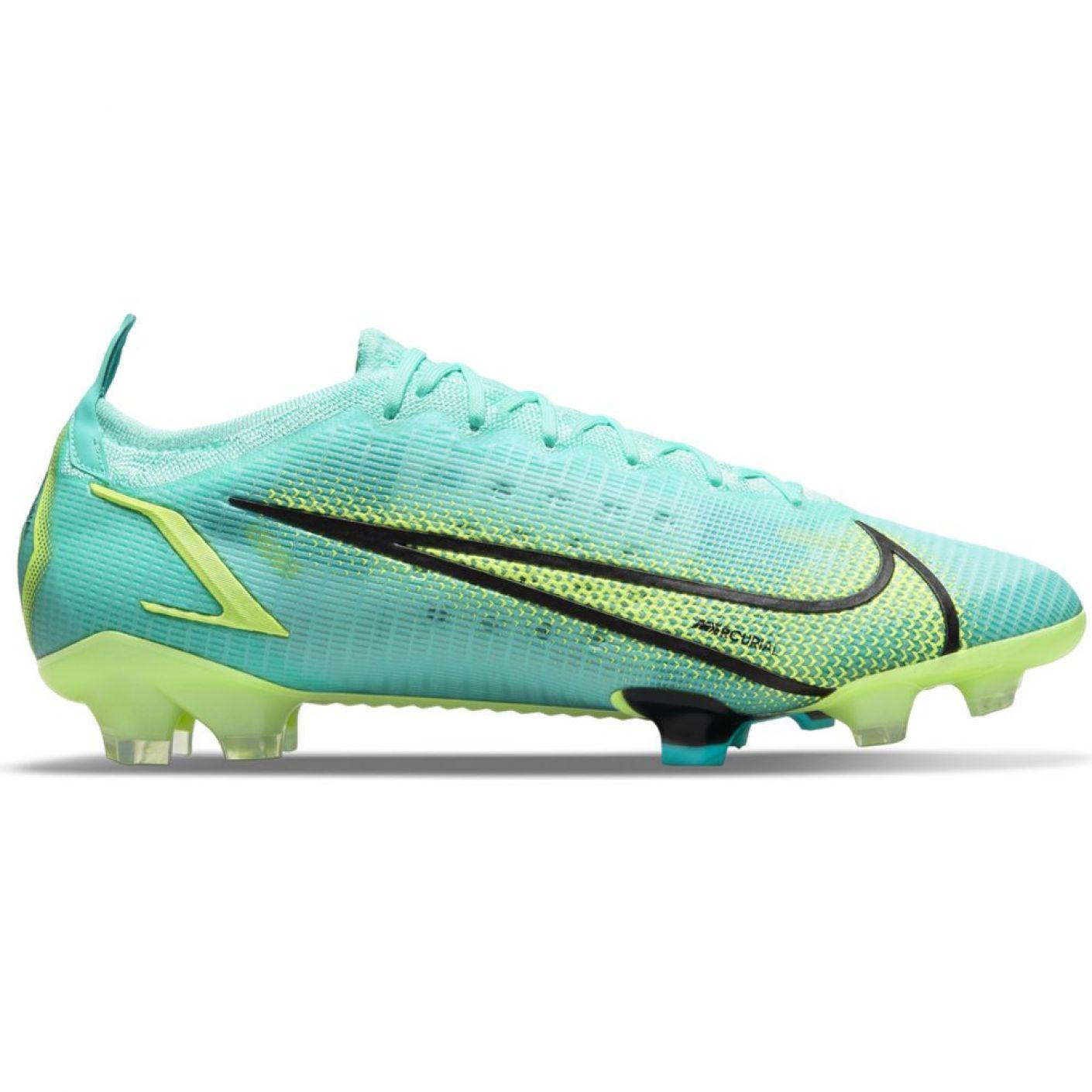 Nike Mercurial Vapor 14 Elite Gras Voetbalschoenen (FG) Turquoise Lime