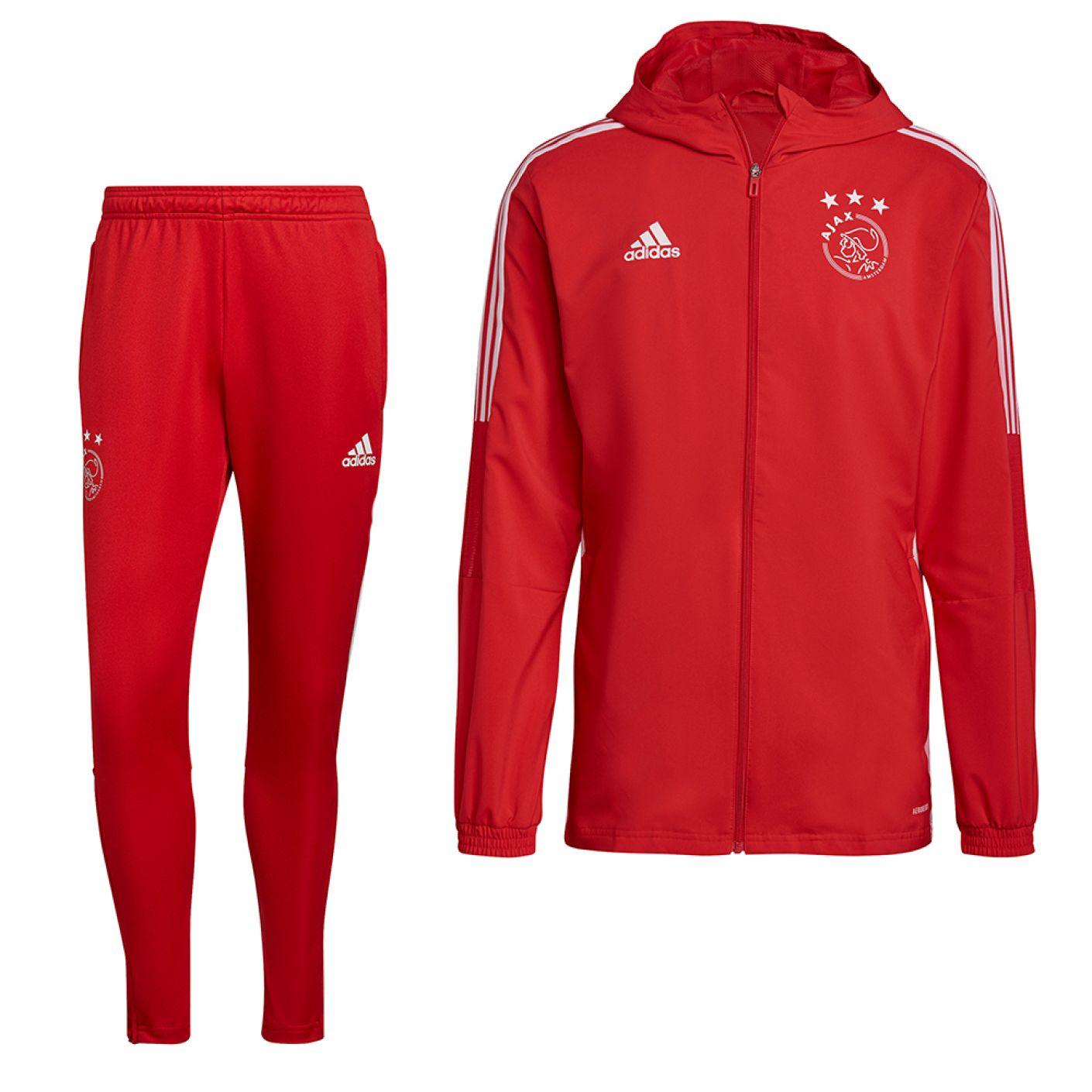adidas Ajax Presentatie Trainingspak 2021-2022 Rood