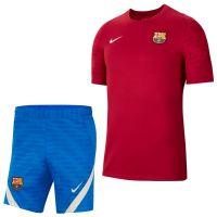 Nike FC Barcelona Strike Trainingsset 2021-2022 Rood Blauw