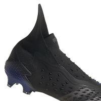 adidas Predator Freak+ Gras Voetbalschoenen (FG) Zwart Donkergrijs Blauw