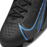 Nike Mercurial Superfly 8 Pro Gras Voetbalschoenen (FG) Kids Zwart Donkergrijs