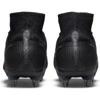 Nike Mercurial Superfly 8 Elite Ijzeren-Nop Voetbalschoenen (SG) Anti-Clog Zwart Donkergrijs