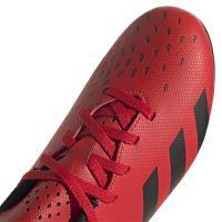 adidas Predator Freak.4 Gras Voetbalschoenen (FG) Kids Rood Zwart Rood
