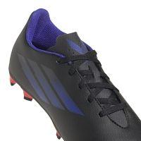 adidas X Speedflow.4 Gras / Kunstgras Voetbalschoenen (FxG) Kids Zwart Blauw Geel