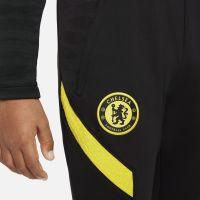 Nike Chelsea Strike Trainingsbroek 2021-2022 Kids Zwart Geel