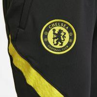 Nike Chelsea Strike Trainingsbroek 2021-2022 Dames Zwart Geel