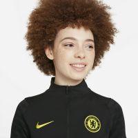 Nike Chelsea Strike Trainingstrui 2021-2022 Dames Zwart Geel
