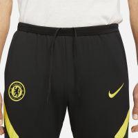 Nike Chelsea Strike Trainingsbroek 2021-2022 Zwart Geel