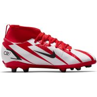 Nike Mercurial Superfly 8 Club CR7 Gras / Kunstgras Voetbalschoenen (MG) Kids Rood Zwart Wit Oranje