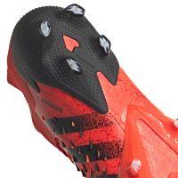 adidas Predator Freak.1 Low Gras Voetbalschoenen (FG) Rood Zwart Rood