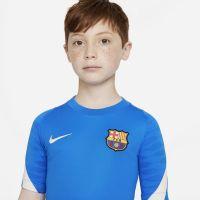 Nike FC Barcelona Strike Trainingshirt 2021-2022 Kids Blauw Lichtgrijs