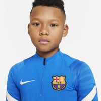 Nike FC Barcelona Strike Trainingstrui 2021-2022 Kids Blauw Lichtgrijs